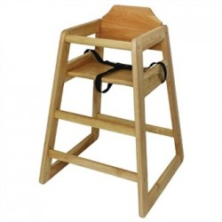 Bolero Wooden High Chair Natural Finish