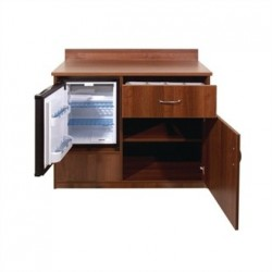 Bolero Mini Bar Unit Walnut Effect
