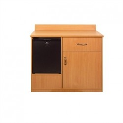 Bolero Mini Bar Unit Beech Effect