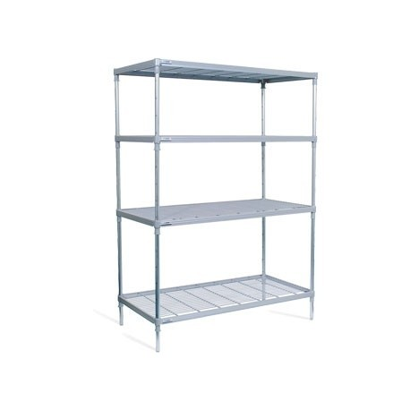 Craven 4 Tier Nylon Coated Wire Shelving with Castors 1825x1175x391mm