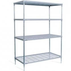 Craven 4 Tier Nylon Coated Wire Shelving with Castors 1825x1475x491mm