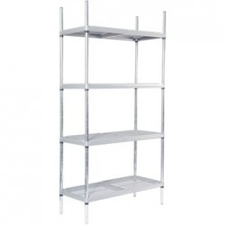 Craven 4 Tier Nylon Coated Wire Shelving With Pads 1700x875x491mm