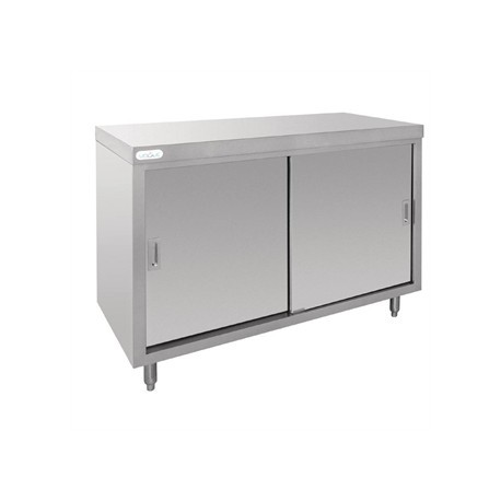 Vogue Stainless Steel Floor Standing Cupboard 1200mm