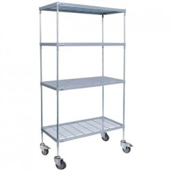 Craven 4 Tier Nylon Coated Wire Shelving with Pads 1825x1175x491mm
