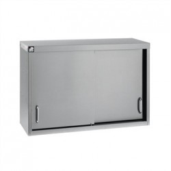 Parry Stainless Steel Sliding Door Wall Cupboard 900mm
