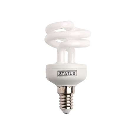 Status CFL Low Energy Mini Spiral Bulb 9W SES