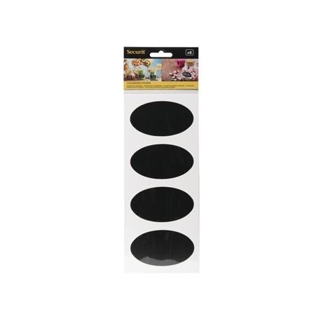 Securit Self Adhesive Chalkboard Oval 85 x 50