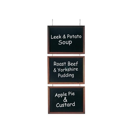 Securit Trio of Hanging Chalkboards