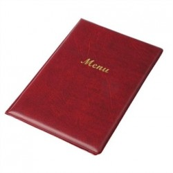 Menu Holder PVC A5  Burgundy
