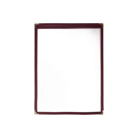 American Style Menu Holder Two Card Burgundy A4
