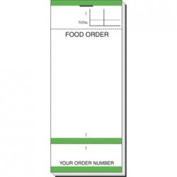 Bar Food Order Pad