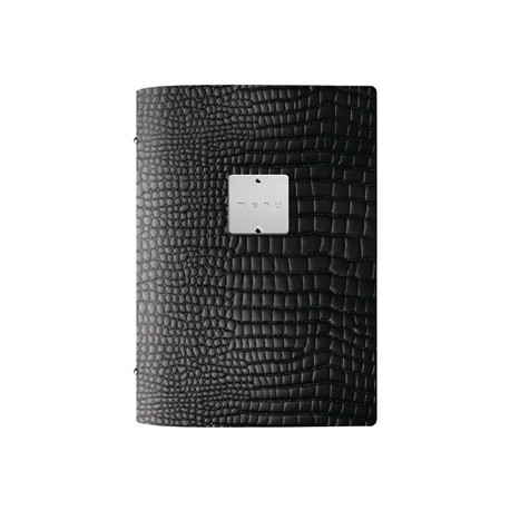 DAG Fashion Menu Holder Crocodile Black A5