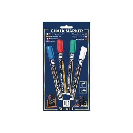 Securit Wipe Clean Assorted Marker Pens