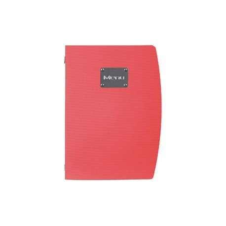 Securit Rio A4 Menu Holder Red