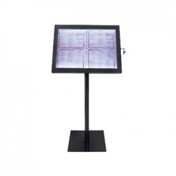 Securit LED Menu Display Stand Black