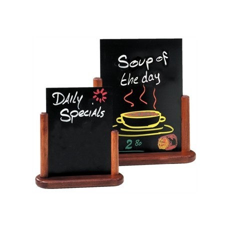 Securit Mohogany Table Top Blackboard 10 x 15cm