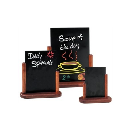 Securit Mohogany Table Top Blackboard 15 x 20cm