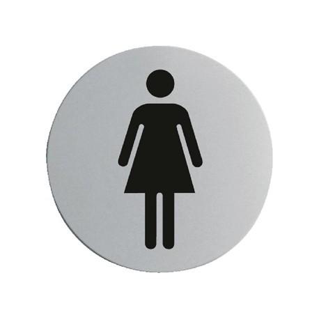 Stainless Steel Door Sign - Ladies