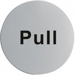 Stainless Steel Door Sign - Pull
