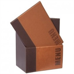 Securit Contemporary Menu Holder Set A4 Brown