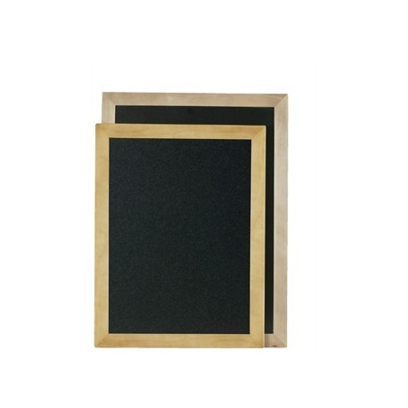 Securit Rectangle Blackboard Teak 70 x 90cm