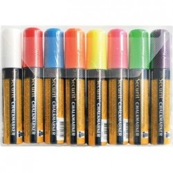 Set of 8 Illumigraph Chalk Pens Tip 7 x 15mm