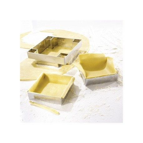Matfer Mozaik Square Tartlet Set of 4