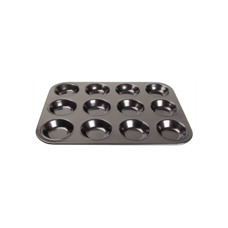 Vogue Carbon Steel Non-Stick Mini Muffin Tray 12 Cup