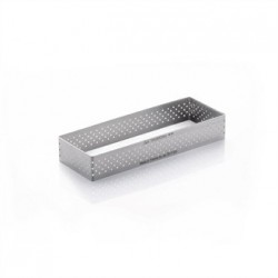 De Buyer Perforated Stainless Steel Rectangle Tart Ring 20 x 40 x 120mm