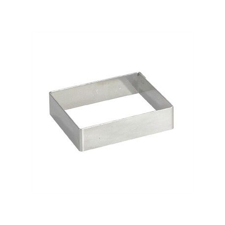 De Buyer Stainless Steel Square Ring 120mm x 20mm