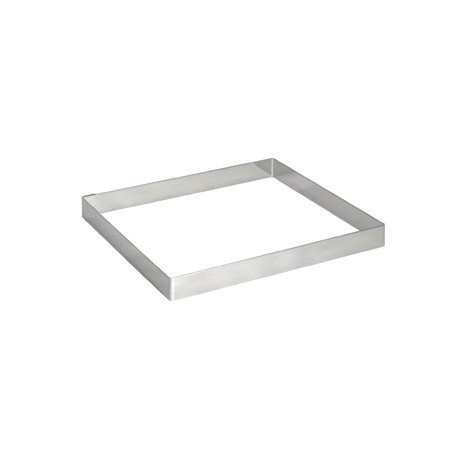 De Buyer Stainless Steel Square Ring 200mm x 20mm