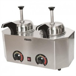 JM Posner Hot Sauce Dispenser with Heated Nozzle 2 x 0.9Ltr