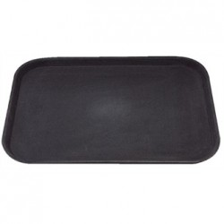 Kristallon Plastic Non Slip Tray Black 14 x 18 in