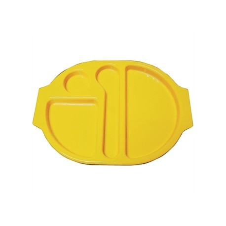 Kristallon Plastic Food Compartment Tray Small Yellow
