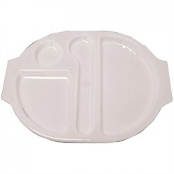 Kristallon Plastic Food Compartment Tray Large White