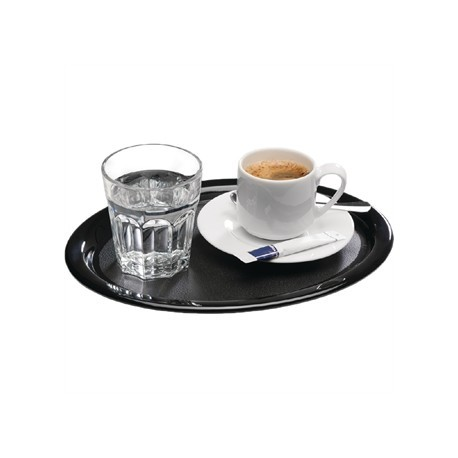 APS Melamine Serving Tray Black 10in