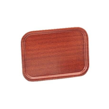 Olympia Mahogany Veneer Wooden Tray 23.5 x 17.75 in