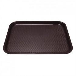 Kristallon Plastic Foodservice Tray Medium in Brown