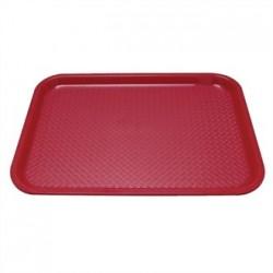 Kristallon Plastic Foodservice Tray Medium in Red
