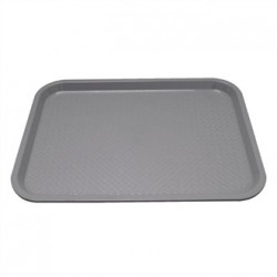 Kristallon Plastic Foodservice Tray Large in Grey