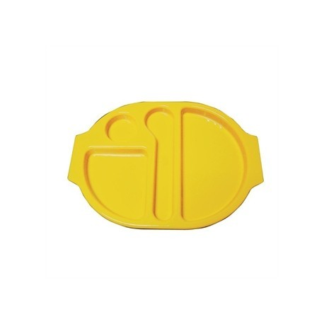 Kristallon Plastic Food Compartment Tray Large Yellow