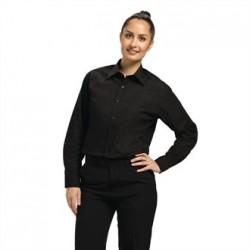 Uniform Works Unisex Long Sleeve Dress Shirt Black 2XL