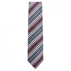 Uniform Works Tie Blue Skinny Stripe