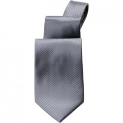 Uniform Works Plain Grey Tie