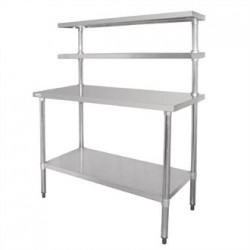 Vogue Stainless Steel Prep Station 1200x600mm