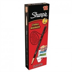 Sharpie China Marker Black Tuck 12 Pack
