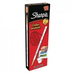Sharpie China Marker White Tuck 12 Pack
