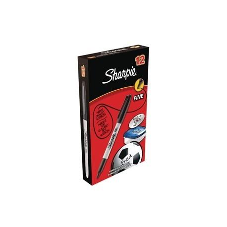 Sharpie Fine Permanent Marker Black Tuck 12 Pack