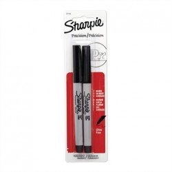 Sharpie Ultra Fine Permanent Marker Black Blister 2 Pack