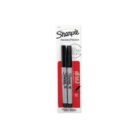 Sharpie Ultra Fine Permanent Marker Black Blister 2 Pack